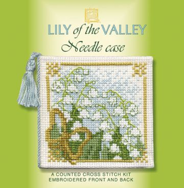 Lily of the Valley Needle Case Cross Stitch Kit